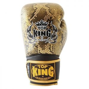 Top King Snakeskin Gold Edition Boxing Gloves TKBGSS02