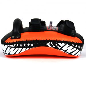 Twins KPL10 Orange Black Leather Thai Kick Pads