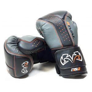 Rival Boxing RB10 Intelli Shock Bag Gloves Black Grey