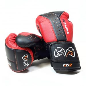 Rival Boxing RB10 Intelli Shock Bag Gloves Black Red