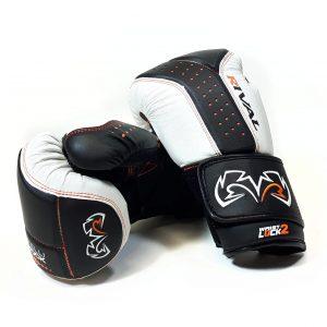 Rival Boxing RB10 Intelli Shock Bag Gloves Black White