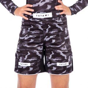 Tatami Kids Rival Black Camo Grappling Shorts
