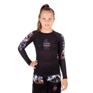 Tatami Kids Tropic Black Long Sleeve Rash Guard