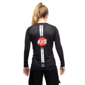 Tatami Ladies Bushido Black Long Sleeve Rash Guard