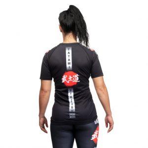 Tatami Ladies Bushido Black Short Sleeve Rash Guard