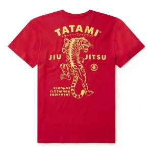 Tatami Tiger Style T-Shirt Red