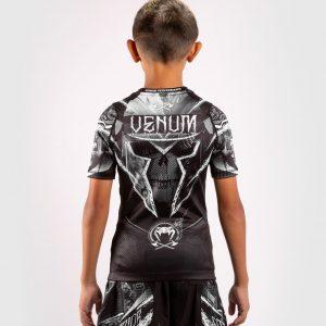 Venum Gladiator 4.0 Kids Rashguard Black White