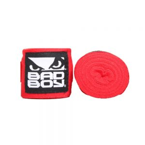 Bad Boy Combat Hand Wraps 3.5m Stretch Red