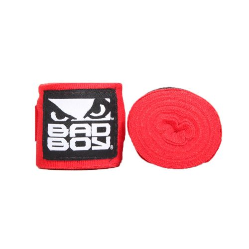 Bad Boy Combat Hand Wraps 3.5m Stretch Red