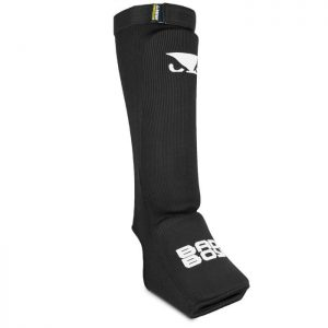 Bad Boy Combat Shin Guards with instep Black