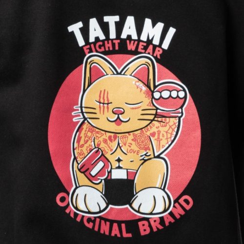 Tatami Cat Fighter Hoodie Black