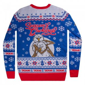 Tatami Seasons Chokings Christmas Jumper Blue