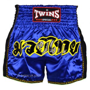 Twins Muay Thai Shorts TWS-910 Blue Retro