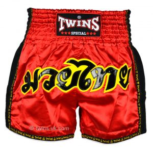 Twins Muay Thai Shorts TWS-911 Red Retro