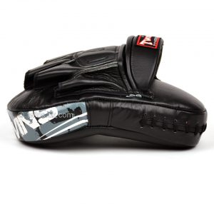 Twins PML10 Black Deluxe Curved Leather Focus Mitts