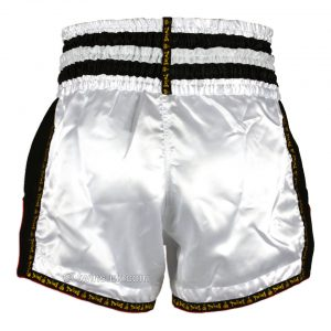 Twins TWS-922 Plain Retro Muay Thai Shorts White Black