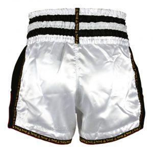 Twins TWS-922 Plain Retro Muay Thai Shorts White Black