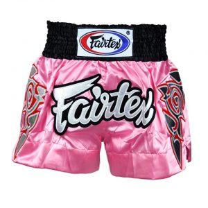 Fairtex BS0636 Modern Thai Art Pink Muaythai Shorts