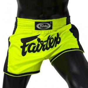 Fairtex BS1706 Lime Green Slim Cut Muay Thai Shorts