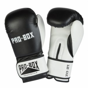 Pro Box New Club Spar Gloves Black White