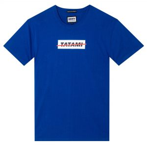 Tatami Strikethrough Organic T-Shirt Blue