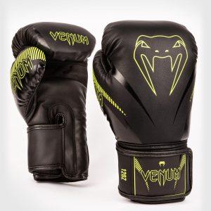 Venum Impact Boxing Gloves Black Neo Yellow