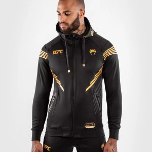 Venum UFC Authentic Fight Night Men's Walkout Hoodie Black Gold