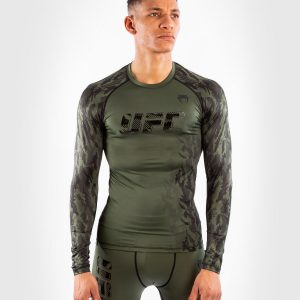 Venum UFC Authentic Fight Week Long Sleeve Rashguard Khaki