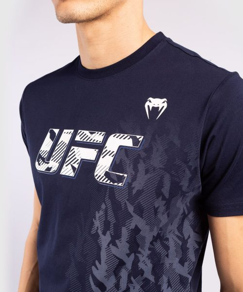 Venum UFC Authentic Fight Week Men's Short Sleeve T-shirt Navy Blue