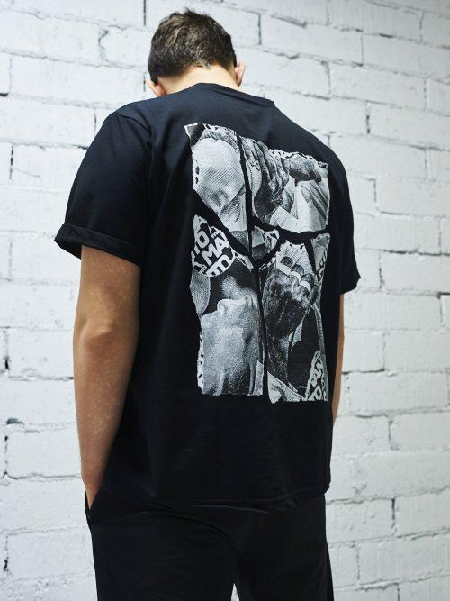 Manto T-Shirt Torn Black