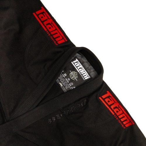 Tatami Estilo Black Label BJJ Gi Black Red
