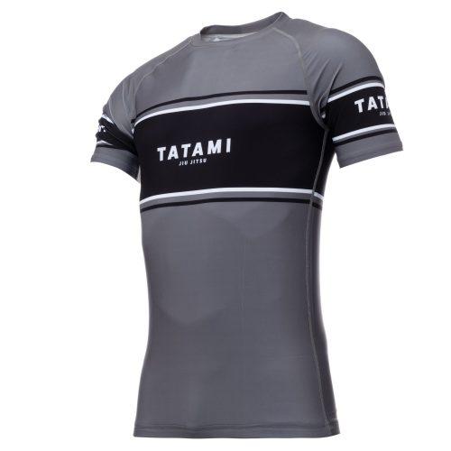 Tatami Fraction Short Sleeve Rash Guard Grey