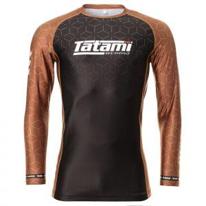 Tatami IBJJF 2021 Ranked Long Sleeve Rash Guard Brown