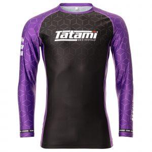 Tatami IBJJF 2021 Ranked Long Sleeve Rash Guard Purple
