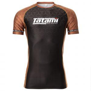 Tatami IBJJF 2021 Ranked Short Sleeve Rash Guard Brown