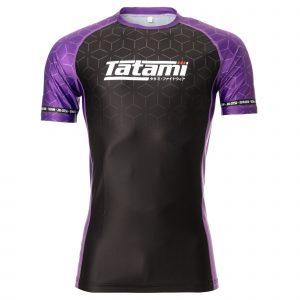 Tatami IBJJF 2021 Ranked Short Sleeve Rash Guard Purple