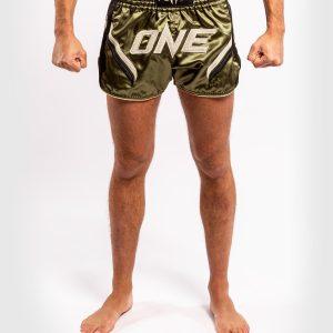 Venum ONE FC Impact Muay Thai Shorts Khaki Black