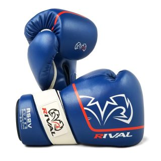 """Rival RS2V Super Sparring Gloves 2.0 Blue. - Use """"INSTA5"""" for 5% off your purchase at www.minotaurfightstore.co.uk! The best Boxing, Muay Thai, MMA, BJJ & No Gi gear at the best prices. - 🇬🇧 FREE UK Shipping 🌍 Worldwide Shipping Available!"""