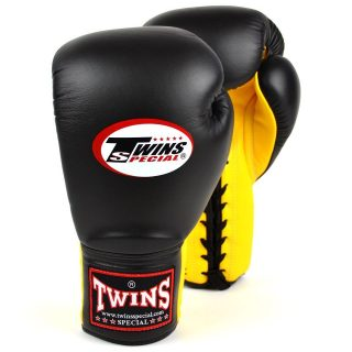 """Twins Lace up competition gloves are designed for maximum hand and wrist protection during professional competitions or for use on pads and bags 🥊 The Twins Special BGLL1 Lace-Up Competition Gloves are available online now 👀 - Use """"INSTA10"""" for 10% off your purchase at www.minotaurfightstore.co.uk! The best Boxing, Muay Thai, MMA, BJJ & No Gi gear at the best prices. - 🇬🇧 FREE UK Shipping 🌎 Worldwide Shipping Available!"""