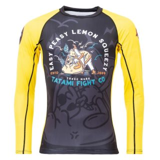 """Tatami Easy Peasy Eco Tech Recycled Rash Guard. 🍋 - Use """"INSTA5 for 5% off your purchase at www.minotaurfightstore.co.uk! The best Boxing, Muay Thai, MMA, BJJ & No Gi gear at the best prices. - 🇬🇧 FREE UK Shipping 🌍 Worldwide Shipping Available!"""
